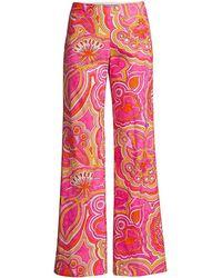 Trina Turk Rudi Paisley-print Wide-leg Pants - Multicolor