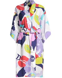 Natori Bonita Satin Robe - Multicolor