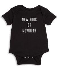 Knowlita - Baby's New York Or Nowhere Bodysuit - Lyst
