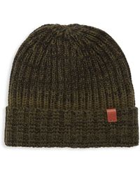 Bickley + Mitchell Faux Sherpa Lined Knit Beanie - Green