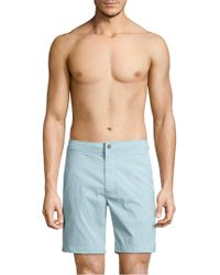 Onia - Calder Textured Swim Trunks - Lyst