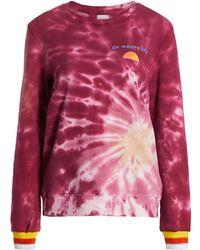 Warm Tie-dye Laid Back Sweatshirt - Multicolor