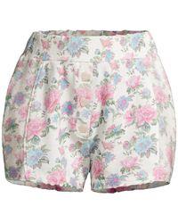LoveShackFancy Renato Pajama Shorts - Multicolor