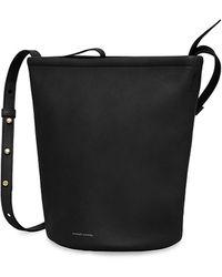 Mansur Gavriel Zip Bucket Bag - Black