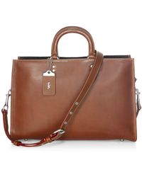 COACH Covertible Leather Briefcase - Brown