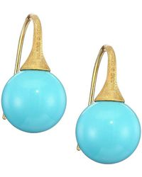 Marco Bicego 18k Yellow Gold Turquoise Drop Earrings - Blue