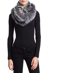 Saks Fifth Avenue Knitted Rabbit & Fox Infinity Scarf - Multicolor