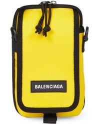 Balenciaga Explorer Crossbody Pouch - Yellow