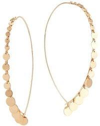 Lana Jewelry Dangling Disc Upside Down Earrings - Metallic
