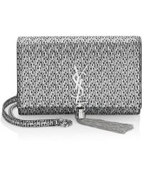 04a6eb8ac4 Lyst - Saint Laurent Monogram Matelasse Leather Envelope Chain ...