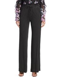 Nanette Lepore - Pure Microdot Wide-leg Trousers - Lyst