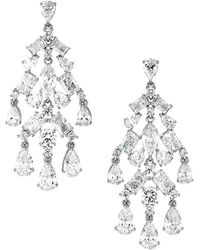 Adriana Orsini Cubic Zirconia Fringe Chandelier Drop Earrings - Metallic