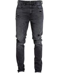 PRPS Le Sabre Warlock Destroyed Skinny Jeans - Black