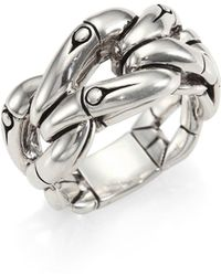 John Hardy - Bamboo Sterling Silver Woven Ring - Lyst