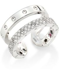Roberto Coin - Double Symphony Diamond & 18k White Gold Ring - Lyst