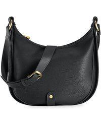 Gigi New York Leather Saddle Bag - Black