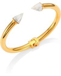 Vita Fede - Mini Titan Mother-of-pearl Cuff Bracelet/goldtone - Lyst