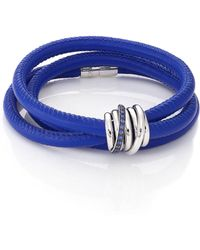 De Grisogono - Allegra Blue Sapphire, 18k White Gold & Leather Wrap Bracelet/denim - Lyst