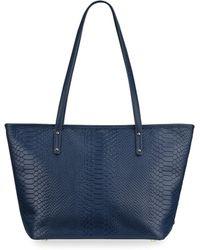 Gigi New York - Taylor Snake-embossed Leather Tote Bag - Lyst