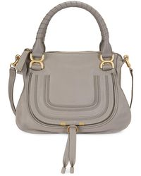 Chloé Marcie Medium Satchel - Gray