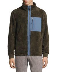Surfside Supply - Fuzzy Full Zip Mockneck Jacket - Lyst