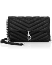 Rebecca Minkoff - Edie Quilted Leather Crossbody Wallet - Lyst