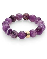 Nest - Amethyst Beaded Stretch Bracelet - Lyst