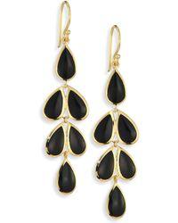 Ippolita Polished Rock Candy? Black Onyx & 18k Yellow Gold Teardrop Cascade Earrings