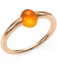 Pomellato - M'ama Non M'ama Fire Opal & 18k Rose Gold Cabochon Ring - Lyst
