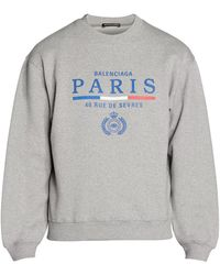 newest 9fc45 160d3 Paris Flag Logo Sweatshirt - Gray