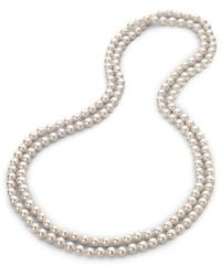 Majorica - 8mm White Pearl Endless Strand Necklace/60 - Lyst