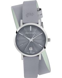 Larsson & Jennings - Lugano Stainless Steel Leather Wrap Strap Watch - Lyst