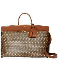 Burberry Extra Large Monogram E-canvas Society Top Handle Bag - Brown