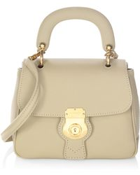 Burberry Trench Leather Top Handle Bag - Multicolour