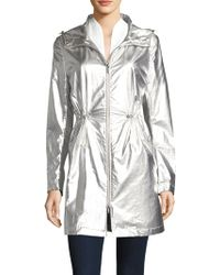 Jane Post - Metallic Hooded Parka - Lyst