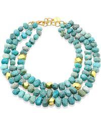 Nest | Amazonite Triple Strand Necklace | Lyst