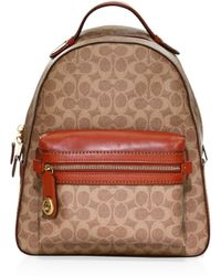 COACH - Textured Campus Backpack - Lyst