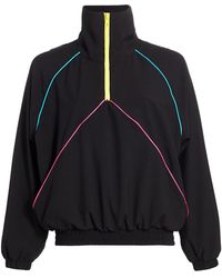 Terez Vision Quarter-zip Windbreaker - Black