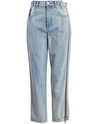 3.1 Phillip Lim High-rise Zip Detail Straight-leg Jeans - Blue