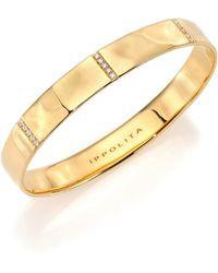 Ippolita - Women's Glamazon Stardust Diamond & 18k Yellow Gold Five-section Wide Bangle Bracelet - Gold - Lyst