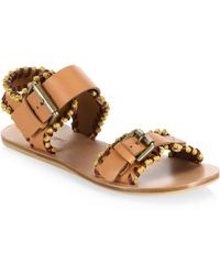 See By Chloé - Romy Whipstitch Flat Sandal - Lyst