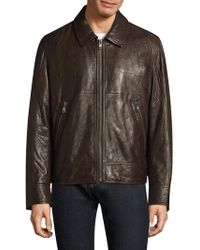 Andrew Marc - Outpost Leather Bomber Jacket - Lyst