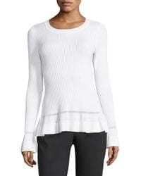 MICHAEL Michael Kors - Stitch Textured Bell-sleeve Top - Lyst