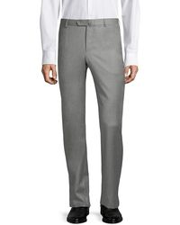 Isaia Regular-fit Wool Pants - Gray