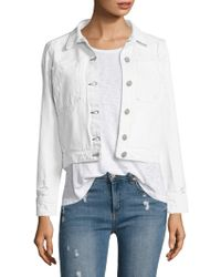 Mcguire - Agnelli Distressed Denim Cropped Jacket - Lyst