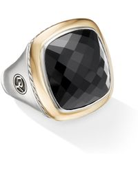 David Yurman - Albion Statement Ring With 18k Yellow Gold & Black Onyx - Lyst