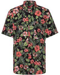 HUGO Ekilio Floral Short-sleeve Shirt - Black