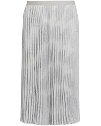 NIC+ZOE Light As A Feather Pleated Skirt - Gray