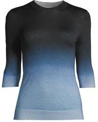 BOSS by Hugo Boss Feyah Ombré Virgin Wool Sweater - Blue