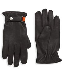 Paul Smith Strap Cuff Leather Gloves - Brown